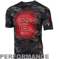 ad0e49d0fd2 adidas North Carolina State Wolfpack Sideline Elude Fitted Performance  T-Shirt - Black Camo