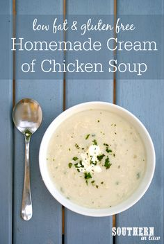 Forget canned soups, this Healthy Homemade Cream of Chicken Soup Recipe is so easy to make and absolutely delicious! Not only that, it is also low fat, gluten free, healthy, clean eating friendly, egg free, high protein and free from any preservatives or artificial additives.