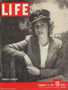 Princess Elizabeth of the United Kingdom on the cover of Life Magazine in 1943