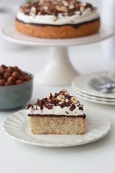 chocolate ganache hazelnut cake