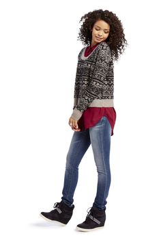 total girl striped sweaters