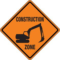 these signs can be anywhere where there is construction, but they are labeled properly that everyone should understand what the sign is saying. Construction Zone Signs, Construction For Kids, Construction Birthday Parties, 3rd Birthday Parties, Construction Cakes, Third Birthday, Vacation Bible School, Dramatic Play, Clipart