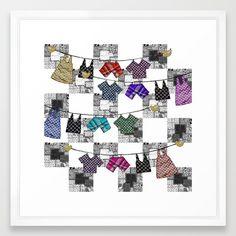 Wash day routine Framed Art Print by Bozena Wojtaszek   Society6