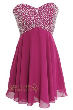 Grape Short Beaded Prom Dresses Am161