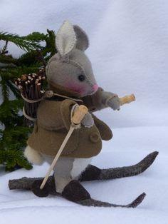 Benjamin op skies, Benjamin is Peters beste vriend en is takjes gaan sprokkelen voor de haard wan o, o wat is het koud