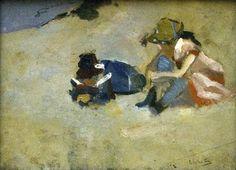 George Hendrik Breitner (1857–1923):  'Children in the Dunes', 1894