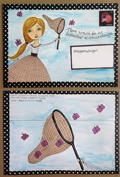 """Artwork by Tracy """"Tandy"""" Anderson on ATCs for All. Click to view original"""