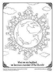 Herald Store Free - Baptism coloring pages Catholic Religious Education, Catholic Crafts, Catholic Kids, Catholic Baptism, Religion Activities, Teaching Religion, Baptism Craft, Free Bible Coloring Pages, Christian Baptism
