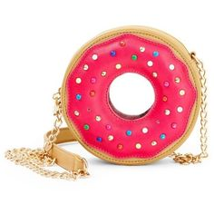 Betsey Johnson Fuchsia Donut Crossbody ($75) ❤ liked on Polyvore featuring bags, handbags, shoulder bags, fuchsia, betsey johnson purses, fuschia purse, pink crossbody, crossbody handbags and crossbody purse