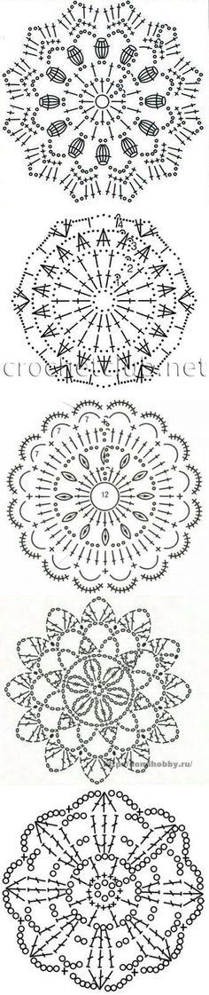 40 New Ideas For Crochet Decoracion Patrones Hogar Crochet Snowflake Pattern, Crochet Doily Diagram, Crochet Motif Patterns, Crochet Diy, Crochet Stars, Crochet Circles, Crochet Blocks, Crochet Snowflakes, Crochet Round