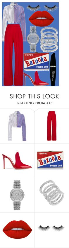 """set"" by samalbrycht on Polyvore featuring Off-White, Michael Lo Sordo, Gianvito Rossi, Anya Hindmarch, Michael Kors, Cole Haan, Lime Crime, Urban Decay and Max Factor"