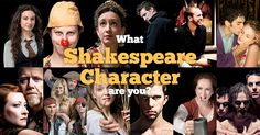 Take this short quiz to find out which of Shakespeare characters you are!