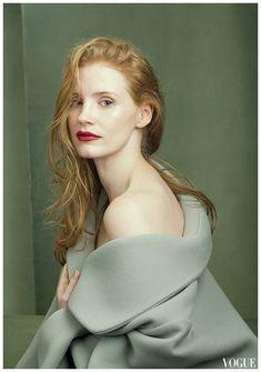 Jessica Chastain Vogue, August 2014 Photo Annie Leibovitz