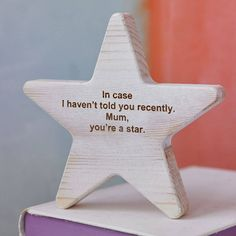 A lovely handmade personalised wooden star.We can personalise the wooden stars with a short message of your choice. The perfect gift for Christmas, graduation, weddings, christenings, a new baby, the list is endless! How to order In the first box on the options menu on the right hand side of the screen, enter the date that you would like to recieve your order by. In the second box on the options menu, enter a short personalised message of your choice. Please use / to indicate that start of a…