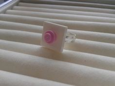white & pink tile brick ring  made with LEGO by simplyproducts, $5.95