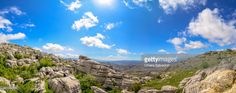 El Torcal de Antequera is a nature reserve in the Sierra del Torcal mountain range located south of the city of Antequera, in the province of Málaga, and is known for its unusual limestone rock formations. Andalusia, Spain. #stockphotos #gettyimages #print #travel