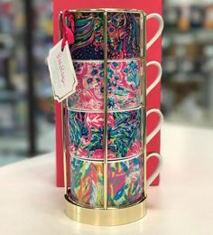 Lilly Pulitzer cappuccino mugs for Fall 2017!! I need these in my life!