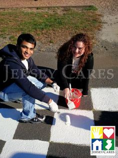 Check out these volunteers painting line games at last year's Jersey Cares Day! Line game painting is a great way to brighten a school's blacktop and provide fun activities for kids! Join us this year on Jersey Cares Day to see what it's all about. Register here: www.jerseycaresday.org - Looking forward to seeing you May 3rd!