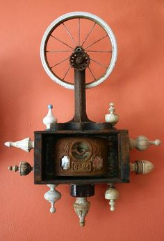 Wheel. Mixed media assemblage by Anastasia Osolin