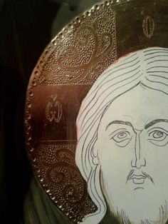 Ornaments Design, Gold Gilding, Religious Art, Byzantine, Wood Crafts, Madonna, Painting, Byzantine Art, Emboss