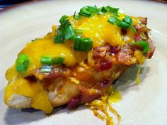 BBQ Cheddar Bacon Chicken   This was a big ole sloppy mess of goodness.  This is the kind of food that makes me glad I live a low carb lif...