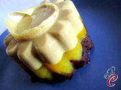 Budino trestrati: pistacchio, pera e riso Venere