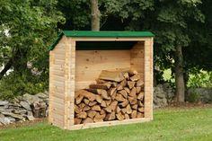 petite cabane de jardin en bois pour rangement de bûches