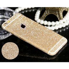 Pegatinas de cuerpo completo para iphone 5 5s se 4 4s 6 6 s Más 6 Más Brillante Glitter Calcomanías de Pantalla Mate Película De Diamante Chispeante Protector