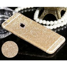 Full Body Stickers for iPhone 5 5S SE 4 4S 6 6s Plus 6Plus Shiny Glitter Sparkling Diamond Film Decals Matte Screen Protector