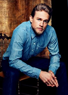 Blue shirt as worn by Charlie Hunnam