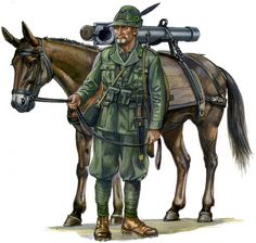 Italian alpini artillery man WWII, pin by Paolo Marzioli