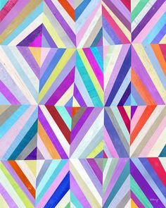 Purple Diamonds are Forever Art Print. $26.00, via Etsy.