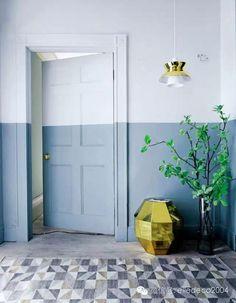 Plus de 1000 id es propos de couleur des murs sur - Peinture mur bicolore ...