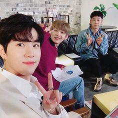 171012 update with & Kim Yongguk, Kwon Hyunbin, Kim Dong, Hyun Bin, 3 In One, Kpop Boy, Low Key, Kpop Groups, My Man
