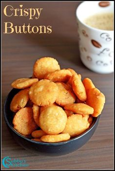 Kara Kara Buttons, a crunchy snack made with rice flour, moong dal, chana dal, urad dal and other Indian Spices. Diwali Snacks, Diwali Food, Diwali Recipes, Tea Time Snacks, Indian Snacks, Indian Food Recipes, Evening Snacks Indian, Indian Breads, Indian Sweets