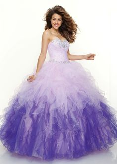 Find Paparazzi by Mori Lee 91001 fairydust purple ball gown prom dresses available at RissyRoos.com.