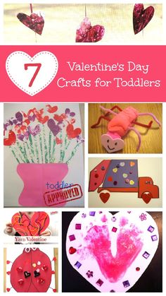 Toddler Approved!: 7 Valentine's Day Crafts for Toddlers- We don't do Valentine's Day at my school, but could use for Mother's or Father's Day ideas.