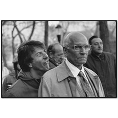 Dustin Hoffman making a face behind Sir Laurence Olivier,  Marathon Man, Manhattan, New York 1975 by Mary Ellen Mark