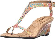 Vaneli Womens Marion Natural Multi Cork Sandal 75 M B *** Click image to review more details.(This is an Amazon affiliate link and I receive a commission for the sales) #WomensPlatformsandWedgesSandals