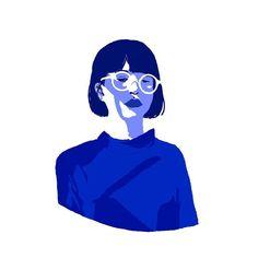 shades of blue #digitalart #illustration #art by orianesafreproust