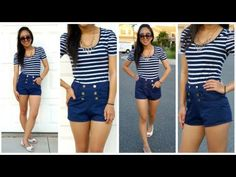 High-waisted Shorts with Pockets Tutorial. many more easy fashion tutorials as well! Im subscribed to her youtube!