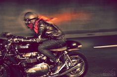 "bonniecoratella: ""Thai Biker"" Triumph Thruxton 900BY RIDEPRIDE"