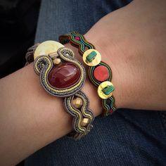 An eclectic bracelets mix. #doricsengeri #bracelet #eclectic #colors #jewlery #design #mixandmatch