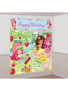 Strawberry Shortcake Wall Decorating Set - Party Ideas & Supplies