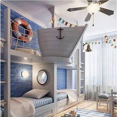 Ship Bedroom.. Coolest room ever for the kids!