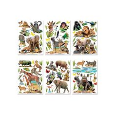 Transform a bedroom in moments with this Walltastic Jungle Safari Animals Room Decor Wall Sticker Kit. Free UK delivery available.