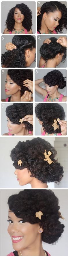 http://www.shorthaircutsforblackwomen.com/black-tea-rinse-for-hair/ Natural Hair Spring Fling: Wavy, Low Chignon Pictorial