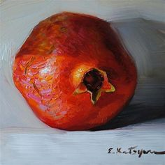 """Pomegranate"" - Original Fine Art for Sale - © Elena Katsyura"