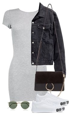 """Sin título #3003"" by camilae97 ❤ liked on Polyvore featuring Boohoo, H&M, Chloé, Vans and Ray-Ban"