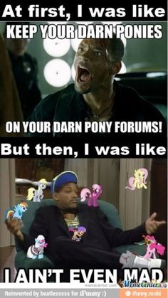 I used to think that mlp was stupid, then my older brother got us to try it and now I am obsessed for life! Mad Meme, Mlp Pony, Pony Pony, Mlp Twilight, Mlp Comics, Little Poney, I Love To Laugh, My Little Pony Friendship, Rainbow Dash